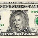 MADONNA on REAL Dollar Bill - Collectible Celebrity Custom Cash Money Art