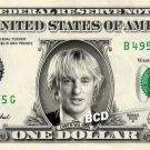 OWEN WILSON on REAL Dollar Bill Spendable Cash Celebrity Money Mint