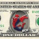 SPIDERMAN on REAL Dollar Bill - Collectible Celebrity Cash Money Art $