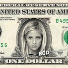 SARAH MICHELLE GELLAR - Real Dollar Bill Cash Money Collectible Memorabilia Celebrity