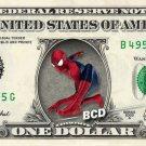 SPIDERMAN on REAL Dollar Bill - Collectible Celebrity Cash Money Art