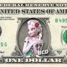 Disney's Queen Elsa FROZEN FEVER on REAL Dollar Bill - Cash Money Gift