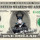 Disney's Maleficent (The Movie) on REAL Dollar Bill - Collectible Cash Money