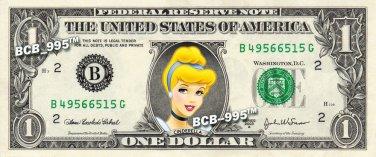 Disney's Princess Cinderella on REAL Dollar Bill - Collectible Cash Money