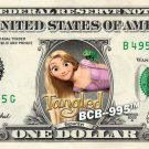 Disney's Tangled ( Repunzel ) on REAL Dollar Bill - Collectible Cash Money