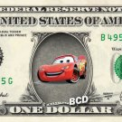 LIGHTNING MCQUEEN Cars on REAL Dollar Bill Collectible Celebrity Cash Money Art