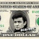 JOHNNY CASH on A REAL Dollar Bill Cash Money Collectible Memorabilia Celebrity