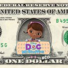 Disney Jr's DOC MCSTUFFINS on REAL Dollar Bill Collectible Celebrity Cash Money