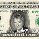 ROD STEWART on REAL Dollar Bill Spendable Cash Celebrity Money Mint