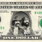 CHEECH & CHONG on REAL Dollar Bill Collectible Cash Collectible Celebrity Money