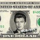 DAVID BOWIE - REAL Dollar Bill Cash Money Collectible Memorabilia Celebrity Bank