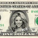 SHAKIRA on REAL Dollar Bill Collectible Cash Celebrity Money Mint $1.00