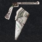 Money Origami GUN and HOLSTER - Dollar Bill Art - Made with Real $1.00 Cash