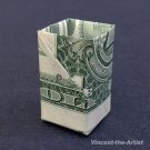 Money Origami PAPER CLIP BOX  - Dollar Bill Art - Made with Real $1.00 Cash