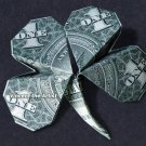 Money Origami 4 LEAF CLOVER - Dollar Bill Art - Made with Real $1.00 Cash