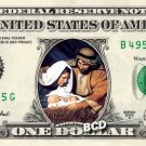 Christmas Nativity ( Manger and Baby Jesus ) on REAL Dollar Bill Cash Money