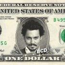 JOHNNY DEPP on REAL Dollar Bill - $1 Celebrity Custom Collectible Cash Mint