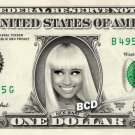 NICKI MINAJ on REAL Dollar Bill - Spendable Cash Collectible Celebrity Money Art