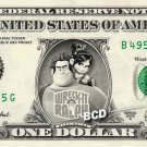DISNEY'S WRECK IT RALPH on REAL Dollar Bill Collectible Cash Money
