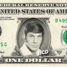 LEONARD NIMOY on REAL Dollar Bill - $1 Celebrity Custom Cash Money Mr Spock