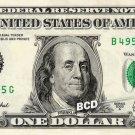 BENJAMIN FRANKLIN on REAL $1 Dollar Bill - Spendable Cash Celebrity Money Mint