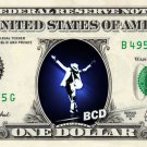 MICHAEL JACKSON on REAL Dollar Bill Celebrity Collectible Cash Man in the Mirror