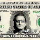 U2 - BONO on REAL Dollar Bill - Collectible Celebrity Custom Cash Money Art