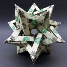 Five Intersecting Tetrahedra Dollar Origami - Geometrical Shape Made of Money
