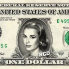 GRACE KELLY on REAL Dollar Bill Spendable Cash Celebrity Money Mint