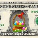 EASTER BASKET on REAL Dollar Bill - Collectible Celebrity Cash Money Art