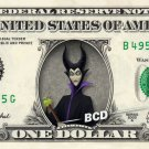 MALEFICENT on REAL Dollar Bill - Collectible Celebrity Cash Money Art