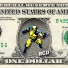 WOLVERINE on REAL Dollar Bill - Collectible Celebrity Cash Money Art