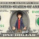 HIRO HAMADA on REAL Dollar Bill - Collectible Celebrity Cash Money Art