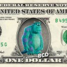 JAMES P SULLIVAN on REAL Dollar Bill - Collectible Celebrity Cash Money Art