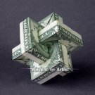 Money Origami UMULIUS RECTANGULUM - Dollar Bill Art - Made with Real $1.00 Cash