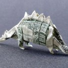 Money Origami STEGOSAURUS Dinosaur - Dollar Bill Art - Made with real $1 Cash