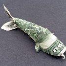 $2 Bill Money Origami KOI FISH - Dollar Bill Art - Made with $2.00 Bill