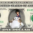 Disney's Big Hero 6 (Baymax / Hero) on REAL Dollar Bill Collectible Cash Money