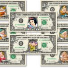 Snow White & Seven Dwarfs Dollar Bill Set - Include 9 REAL Dollars! & Evil Witch