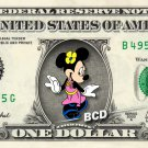 Disney's Minnie Mouse on REAL Dollar Bill - Collectible Cash Money