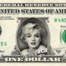 MARILYN MONROE on REAL Money Dollar Bill - Celebrity Cash Money