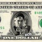 THE KARATE KID on REAL Dollar Bill - Ralph Macchio Pat Morita Mr. Miyagi Cash $