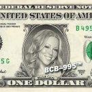 MARIAH CAREY on REAL Dollar Bill - Collectible Celebrity Custom Cash Money Art