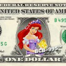 Disney's Ariel (Little Mermaid) on REAL Dollar Bill - Collectible Cash Money