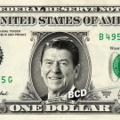 RONALD REAGAN on REAL Dollar Bill Spendable Cash Celebrity Money Mint