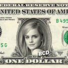 EMMA WATSON - REAL Dollar Bill Cash Money Collectible Memorabilia Celebrity Bank