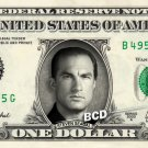 STEVEN SEAGAL on a REAL Dollar Bill Cash Money Collectible Memorabilia Celebrity