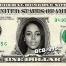 AALIYAH on REAL Dollar Bill Collectible Celebrity Cash Memorabilia Money Bank