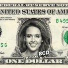 JESSICA ALBA on REAL Dollar Bill Spendable Cash Celebrity Money Mint