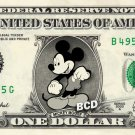 Disney's MICKEY MOUSE on REAL Dollar Bill Collectible Cash Celebrity Money Mint